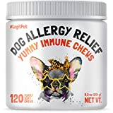 WORKS FOR ALL ALLERGY TYPES: red, swollen face & reddened eyes. Dry skin irritation, inflamed paws & hair loss. Scratching & sneezing. Waxy discharge & yeast infection. Hot spots & bad odor. VET-RECOMMENDED TO SUPPORT your dog's seasonal and occasion...