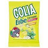 Golia Erbe, Caramelle alle Erbe, Gusto Limone, con Vitamina C, Senza Zucchero e Senza Glutine, Formato Busta da 60 gr
