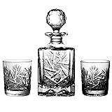 Julia 2117 - Set de Botella y 6 Vasos de Whisky (Cristal de Bohemia, 24%óxido de Plomo)