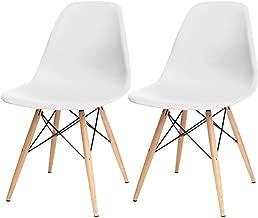 Kit 02 Cadeiras Decorativas Eiffel Charles Eames Branco com