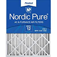 Nordic Pure Actual Depth Merv 12 Pleated AC Furnace Air Filters