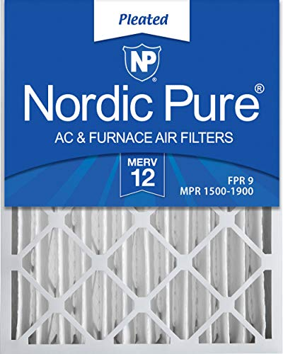 Nordic Pure 20x25x4 MERV 12 Pleated AC Furnace Air...