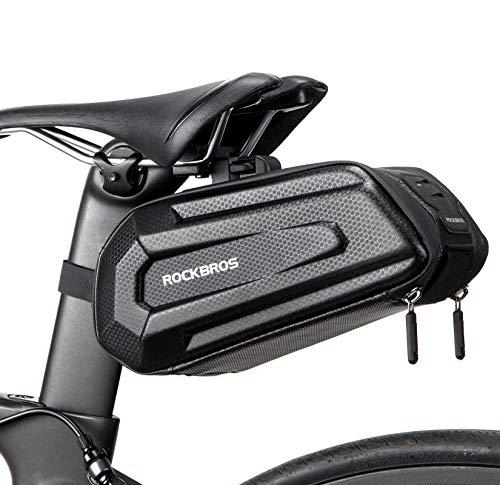 ROCKBROS Fahrrad Satteltasche Wasserdicht Fahrradtasche 3D Hard Shell Fahrradsitz Tasche mit Schnellverschluss für MTB Rennrad 1,8L
