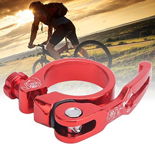 Zhat Clip de Tubo de Bicicleta, Clip de tija de sillín de liberación rápida Resistente a la corrosión con 1 Pieza para la mayoría de Las Abrazaderas de Tubo de Bicicleta para Ciclistas(Red)