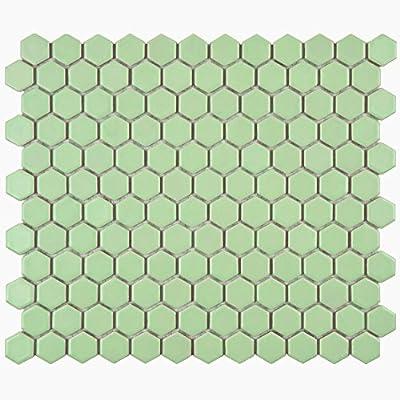 SomerTile Retro Hex Porcelain Floor and Wall Tile