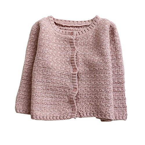 Brightup Baby Mädchen Strickjacke Kleinkind Junge Pullover Rundhalsausschnitt Strickjacke Pullover