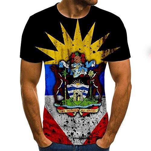 3D Batik T Shirt Été Hommes Femmes Sweat 3D Imprimer À Manches Courtes Hip Hop Street Top Pull,E 5XL