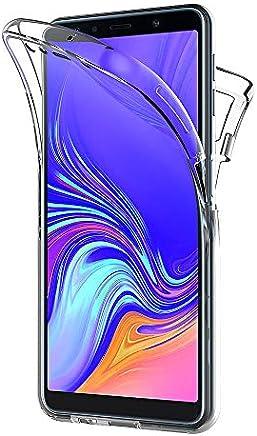 AICEK Coque Samsung Galaxy A7 2018, 360°Full Body Transparente Silicone Coque pour Samsung A7 2018 Housse Silicone Etui Case (6,0 Pouces)