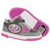Heelys Plus X2 | Chaussures à roulettes pour les filles | Gris / Rose, 35 EU