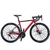 Bicicletas Hombres Road, 18 Velocidad 700c Ultraligero AleacióN De Aluminio del Marco La Bici Camino Los Hombres, Que Compite con Bicicleta Frenos Doble Disco, para Amantes Ciclismo