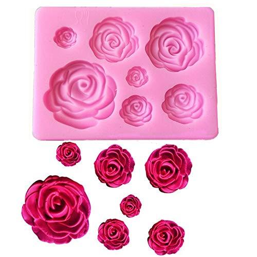 Tvoip Rose Flowers silicone mold Cake Chocolate Mold wedding Cake Decorating Tools Fondant Sugarcraft Cake Mold