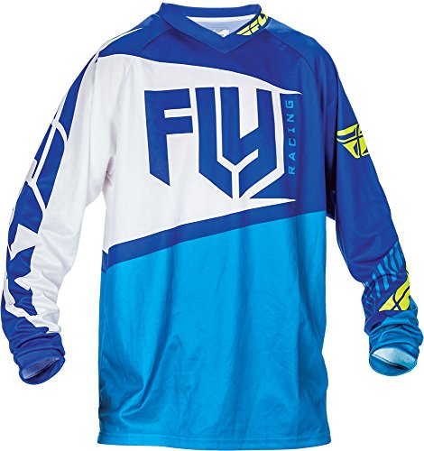 Fly Racing F-16 Motocross/Mountainbike Jersey Kids blauw-hi-vis