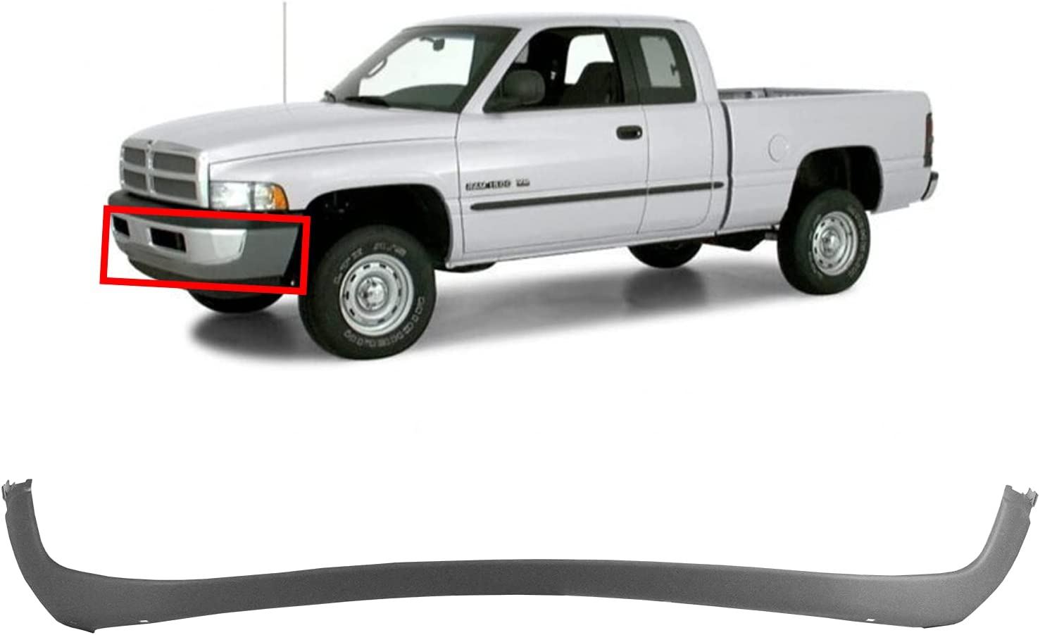Super Special SALE held MBI AUTO Seattle Mall - Textured Gray Front Fascia Cover for Bumper 1994-200