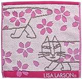 丸眞 ハンドタオル LISA LARSON リサ ラーソン 25×25cm 桜マイキー 綿100 無撚糸使用 6805010100