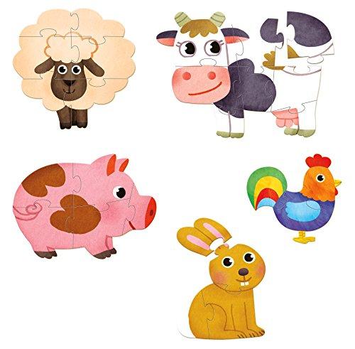 Vilac vilac2630 Farm puzzels voor kleine kinderen