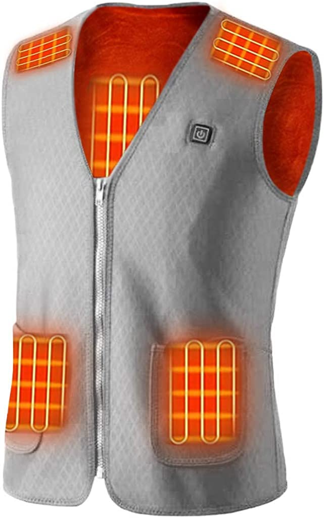 GXLONG Heated Max 77% OFF Max 53% OFF Vest for Men Lightweight Unisex Women Electri USB