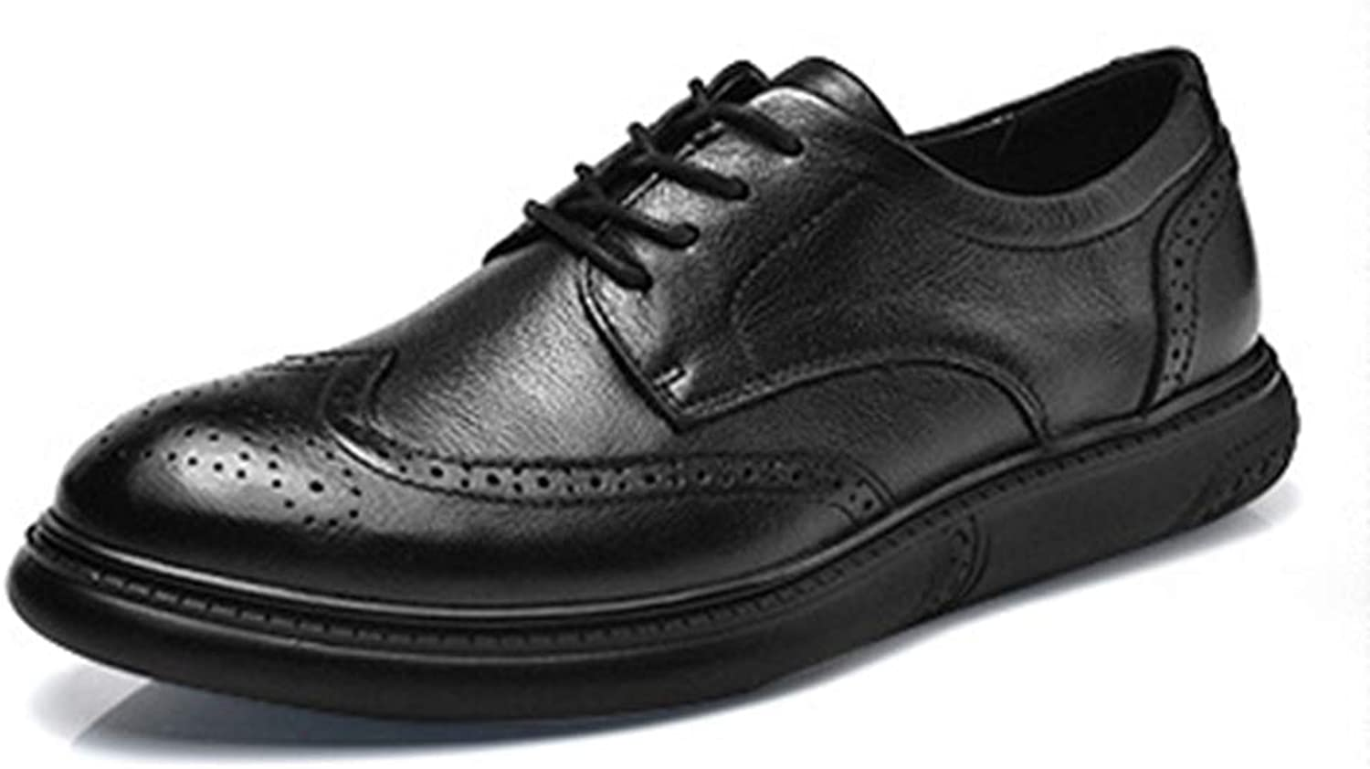 Phil Betty Mens Oxford shoes Lace Up Non-Slip Breathable Comfortable Business Dress shoes