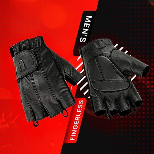Hugger Full Finger and Fingerless Black Deer Soft Leather...