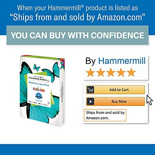 Hammermill Printer Paper, Premium Laser Print 28 lb, 11 x 17-4 Ream (2,000 Sheets) - 98 Bright, Made in the USA, 125526C