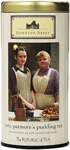 The Republic of Tea Downton Abbey Mrs. Patmores Pudding Tea, 36 Tea Bags, Caramel Vanilla Black Tea