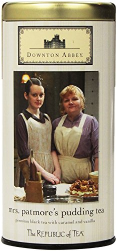 The Republic of Tea Downton Abbey Mrs. Patmore's Pudding Tea, 36 Tea Bags, Caramel Vanilla Black Tea