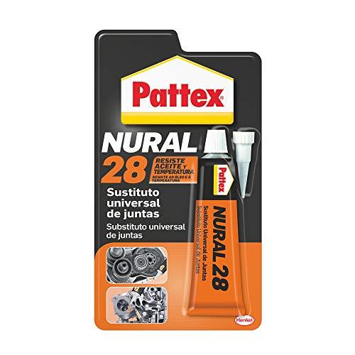 Pattex Nural 28 Sustituto universal de juntas, sellador para automoción e industria, silicona selladora para juntas de culata, cajas de cambio y más, 1 x 40 ml