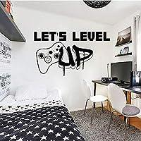 キッズルームボーイベッドルームデコレーションホームデコレーション用ウォールステッカーゲームアートウォールデカールは横型