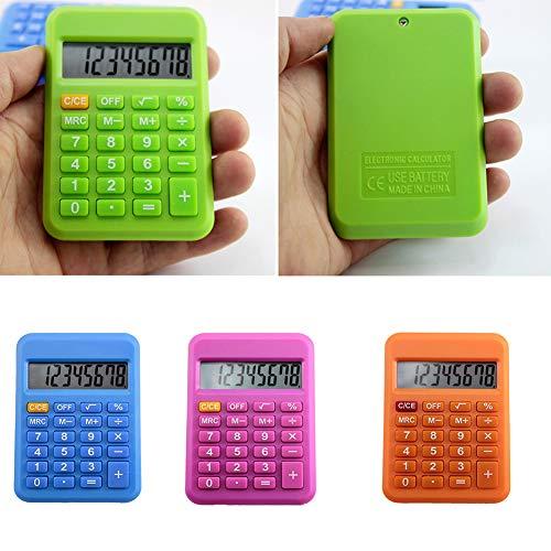 ZqiroLt Schreibwaren, Mini-Elektronischer Taschenrechner, Candy Color Schule Büro Supplies – zufällige Farbe