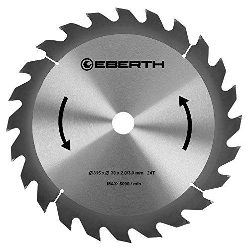 EBERTH Hartmetall-Kreissägeblatt für Holzschnitte (315 x 3,0 x 30 mm, 24 Zähne, lange Lebensdauer)