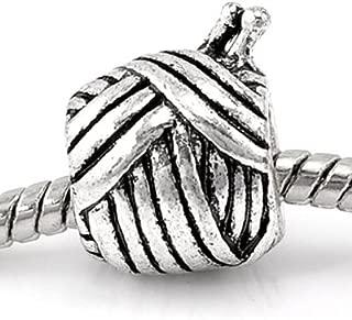 Knitting Wool Ball Yarn Charm Spacer Bead for European Snake Chain Charm Bracelet