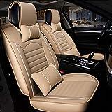 Cubiertas de asiento personalizadas Transpirable PU Asientos de Piel de coches fundas de asiento de auto Protectores del amortiguador del sistema completo (colchón de aire) Compatible universal for to