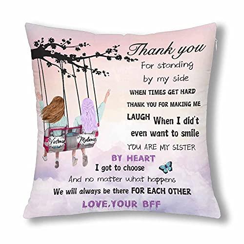 Funda de almohada personalizada de BFF para mejor amiga, regalo de amistad,...