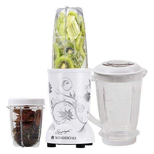Wonderchef Nutri-Blend 400-Watt Mixer Grinder with 3 Jars (White)