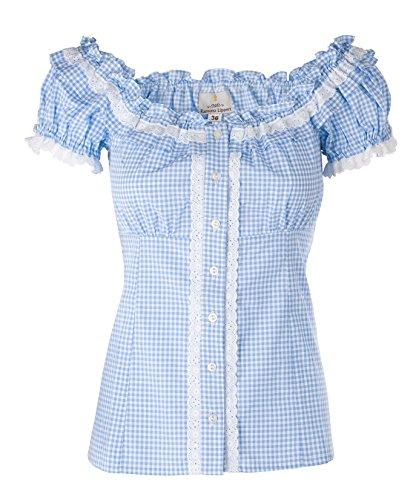 Ramona Lippert Bluse Trachtenbluse Laila blau (46)
