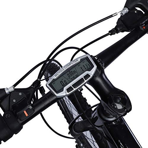 FEYV Velocímetro De Bicicleta, Pantalla LCD Computadora De Bicicleta Multifunción Computadora De Bicicleta para Montar para Deportes para Ciclismo