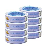 LIONPAPA Nachfüllkassette für Litter Locker II Katzenstreu Entsorgungseimer Cat Litter Disposal System Nachfüllkassetten (8er Pack)