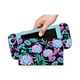 ZOOMHITSKINS Sticker Turquoise Flowers Oriental Garden Lotus Water Lily Azure Blue Night High Quality 3M Vinyl Decal Sticker Wrap, Nintendo Switch Compatible, Made in the USA