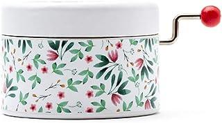 Caja de música manual redonda de estampado de flores con la melodía Once upon a December de la película de Anastasia