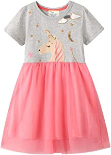 Summer Dress European and American Style Children's Wear Knitted Short-Sleeve Girl Dress