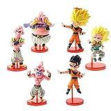 kyman 6pcs / Set Dragon Ball Z Figura Super Saiyan Majin Buu Gotenks Son Goku Gohan Q Versione Dragonball Action Figure Model Toy 4-9cm