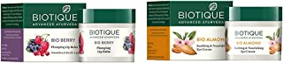Biotique Bio Berry Plumping Lip Balm Smoothes & Swells Lips, 12G & Biotique Bio Almond Soothing And Nourishing Eye Cream, 15g