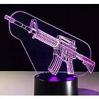 武器モデル3D LEDナイトライトクリエイティブホームデコレーション3Dビジョン3Dビジュアル照明7色変更USB充電テーブルランプ誕生日プレゼントエンターテイメント装飾ギフト子供のおもちゃ [並行輸入品]