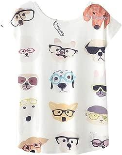 CUCUHAM Women Tees Fashion Summer Blouse Print T-Shirt Short Sleeve Tops