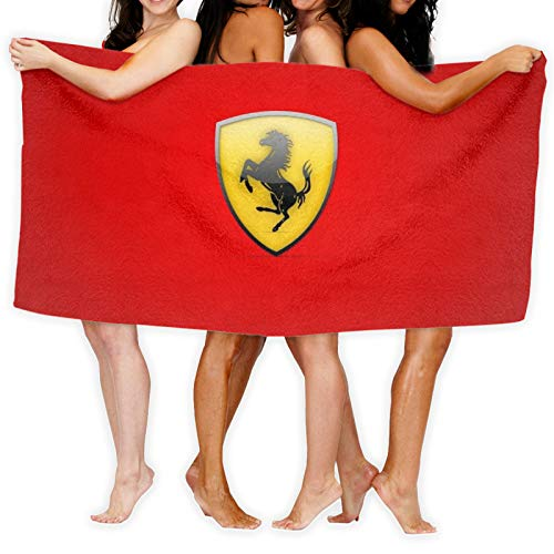 Ferrari - Toallero para mujer, algodón de bambú, con cierre y bolsillo, bata de baño y toalla de ducha