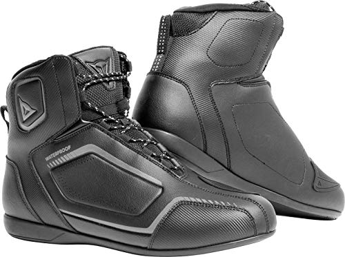 Dainese Raptors Lady D-WP Shoes, Zapatos Moto Impermeables Mujer, Negro/Negro/Antracita, 37 EU