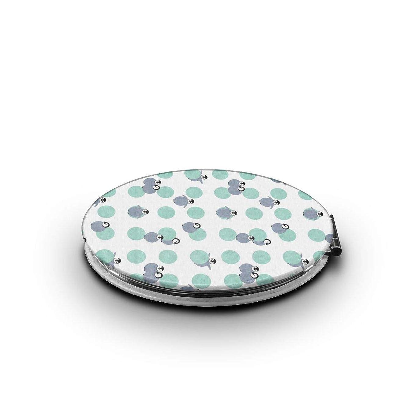 引き出しスプレー金銭的な携帯ミラー ペンギンミニ化粧鏡 化粧鏡 3倍拡大鏡+等倍鏡 両面化粧鏡 楕円形 携帯型 折り畳み式 コンパクト鏡 外出に 持ち運び便利 超軽量 おしゃれ 9.0X6.6CM