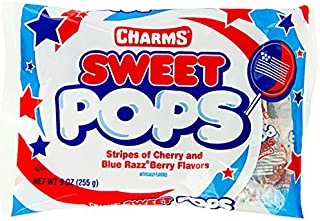 Patriotic USA Flag Charms Sweet Pops: 15-Piece Bag
