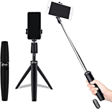 pTron Glam Plus Bluetooth Extendable Selfie Stick with Tripod Stand Wireless Remote 360 Degree Rotation 73cm Extended Length Compatible with 6 8cm Width Phones Replaceable Battery Black