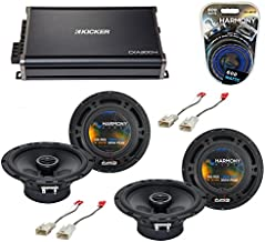 Compatible with Mitsubishi Lancer 08-14 OEM Speaker Replacement Harmony (2) R65 & CXA300.4 Amp (Renewed)