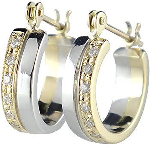 [アトラス]Atrus ピアス メンズ 18金 イエローゴールドk18 pt900 プラチナ900 ダイヤモンド フープピアス コンビ 宝石